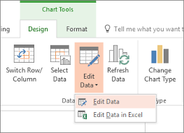 Chart Select Change The Data In An Existing Chart Powerpoint