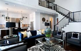 modern furniture living room blue. Fine Living Indigo Blue Sofa In Modern Furniture Living Room