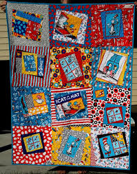 39 best Quilts - Cat in the Hat Quilts images on Pinterest ... & Baby Quilt Using Fat Quarters   Kenda's Crafts: Cat in the Hat Baby Quilt Adamdwight.com