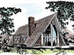Log Home Floor Plan Alpine Chalet Plans Bas  LuxihomeA Frame House Kit