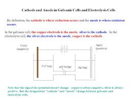 cathode and anode in galvanic cells and electrolysis cells cu s negative