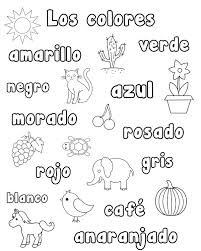Small Picture Colors In Spanish Coloring Pages Image Gallery HCPR