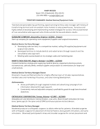 Territory Sales Manager Resume Sample Medical Device Resume Examples Of Resumes Sales Samples Sam Sevte 21