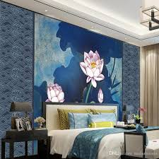 bedroom with tv and computer. 3d Custom Photo Wallpaper Wall Murals Modern Lotus Blue Background Living Room Bedroom Tv Christmas Computer Desktop With And B