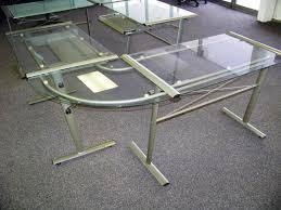 Glass Desk Office Modern White Office Desk Glass Top Modern Work Glass Desk Office
