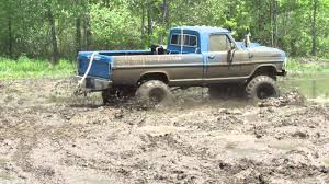 ford trucks mudding lifted. Contemporary Mudding Old Blue Ford Mudding At Waternam Mud Bog For Trucks Lifted G
