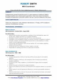 Mds Charting Examples Mds Coordinator Resume Samples Qwikresume