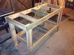 Quick Easy Workbench Workbench Pinterest Workbench Plans Free Plans Building Wood Workbench