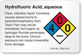 Hydrofluoric Acid Labels