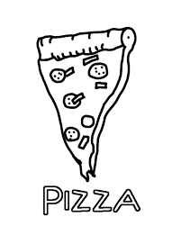 Small Picture Delicious Pizza Coloring Pages Of Food Foods Coloring pages of