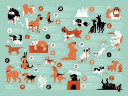 Dogs Alphabet In 2019 Dog Illustration Dog Poster Cute