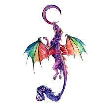 Hxman красочные акварель феникс дракон временные татуировки для
