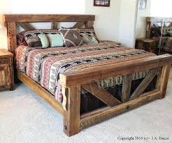Rustic King Size Bed Frame Interesting Kink Sized Pallet Bed And ...
