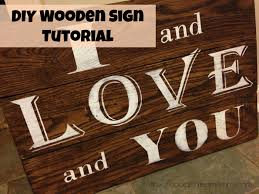 diy wood signs with i and love and you diy wooden sign tutorial the un coordinated mommy