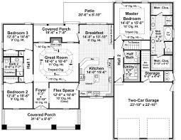 The Morgan Landing   Bedrooms and Baths   The House Designers st Level Floorplan