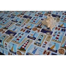 hello sailor vinyl oilcloth tablecloth