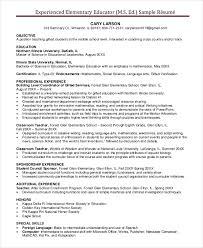 Elementary Teacher Resume Template Custom Elementary Teacher Resume Template 48 Free Word PDF Document