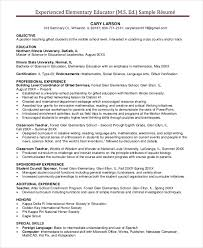 Elementary Teacher Resume Beauteous Elementary Teacher Resume Template 28 Free Word PDF Document