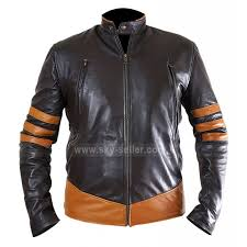 x men wolverine origins logan brown biker leather jacket