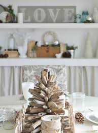 Christmas decorations in a coastal home Coastal Christmas decor with driftwood  decorations ...