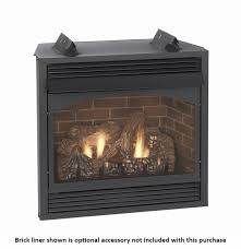 empire vail premium vent free natural gas fireplace with remote ready controls and blower 36