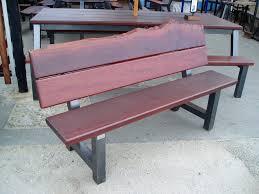 outdoor park bench jarrah timber steel frame outdoor bench seat