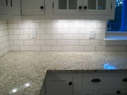 Tile Under Kitchen Cabinets Lowes White Subway With Mobe Pearl Grout Bonus Room Bathroom