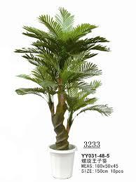 2m 3 Stems Fake King Areca Palm Tree With Bark