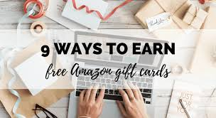 to earn free amazon gift cards