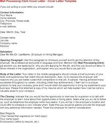 Cover Letter For Mail Processing Clerk Postal Clerk Cover Letter Top