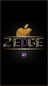 Zedge, apple, black, desenho, golden ...