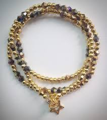 Crystal Beads Necklace Designs In Gold Beaded Lacelet Necklace And Bracelet Gold With Swarovski Crystal Beads And Star