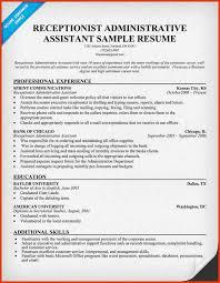 administrative assistant resume sample sample resume receptionist administrative loan servicer resume