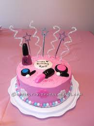 Birthday Cake Ideas For Girls Sweet Makeup Cake For An 8 Year Old