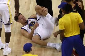 Klay Thompson 'Happy' Leg Injury vs ...