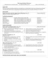 Example Of Nursing Resume Extraordinary Example Student Nurse Resume Free Sample Nursing School Resume