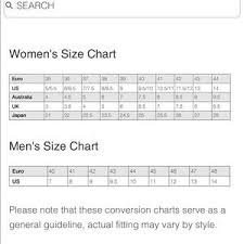 Alegria Size Chart Alegria Shies