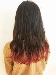 ナチュラル 裾カラー ロング 女っぽヘアモリオフロムロンドン成増3号店