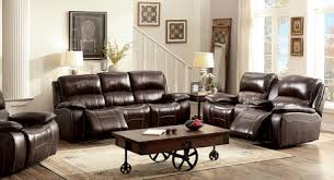 RUTH 2Pcs Brown Top Grain Leather Recliner Set W Cup Holders U0026 Storage  CM6783 Recliner With Cup Holder And Storage50