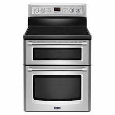 Professional Electric Ranges For The Home Maytag 30 Inch Wide Double Oven Electric Range With Power Element