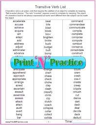 Verb Types Chart Types Of Verbs 64 Kinds Of Verbs Worksheets
