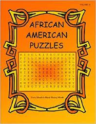 "African American Puzzles"" (10): Bettie Clarke: 9780971938090: Amazon.com:  Books"