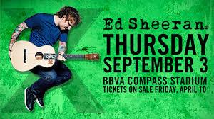 Ed Sheeran Milwaukee Seating Chart Ed Sheeran To Play Bbva Compass Stadium Bbva Stadium