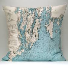 Nautical Chart Pillows Awesome Nautical Chart Pillows For The Home Nautical