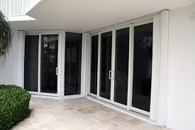 custom accordion shutters open