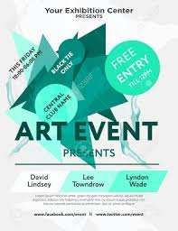 Art Event Flyer Web Banner Or Print Poster For Art Event Announcement Great