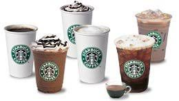 starbucks hot and cold drinks. HandCrafted Beverages And Starbucks Hot Cold Drinks