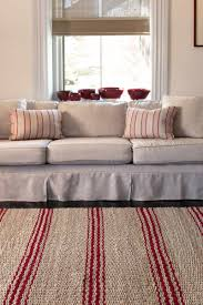 red  tan striped jute rugs  dash  albert jute ticking crimson