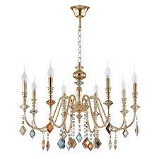 Подвесная <b>люстра Crystal Lux MERCEDES</b> SP8 GOLD/COLOR ...