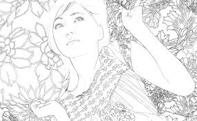 嗚呼美しい日本画の美人画の下図がそのまま塗り絵に池永康晟の